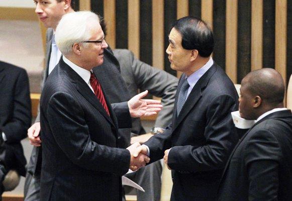 مندوبا الصين وروسيا في مجلس الأمن الدولي