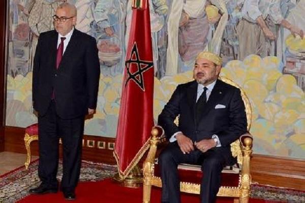 العاهل المغربي الملك محمد السادس ورئيس الحكومة المعين عبد الاله ابن كيران