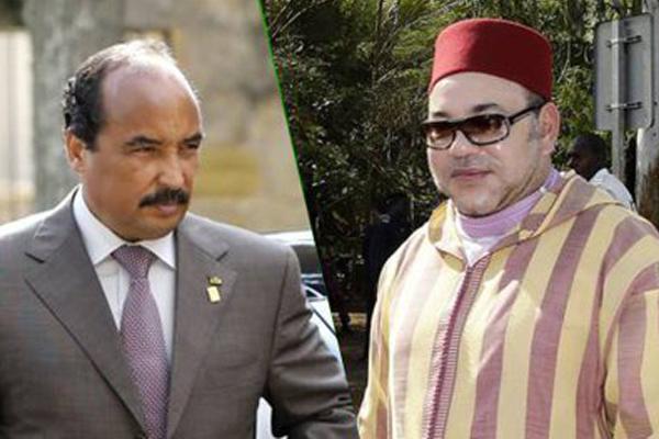 العاهل المغربي الملك محمد السادس يجري مكالمة هاتفية مع الرئيس الموريتاني