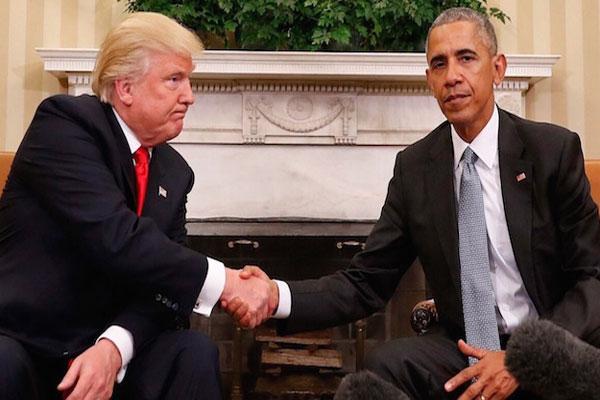 لقاء سابق جمع بين أوباما وترامب