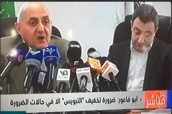 ابو فاعور على اليمين خلال مؤتمره الصحافي