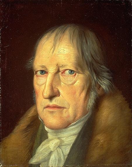 لوحة لوجه هيغل تعود إلى عام 1831