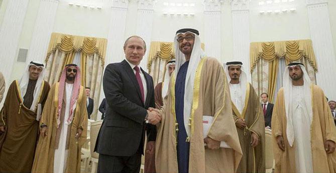 بوتين مستقبلا محمد بن زايد (وام)
