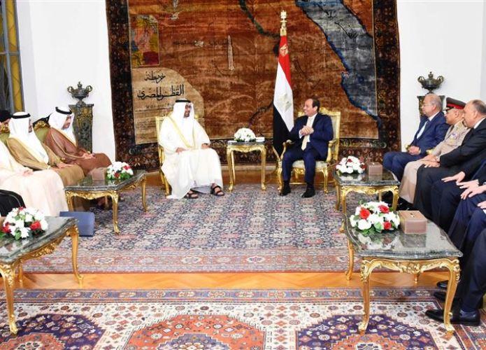 اجتماع القمة بين السيسي وبن زايد