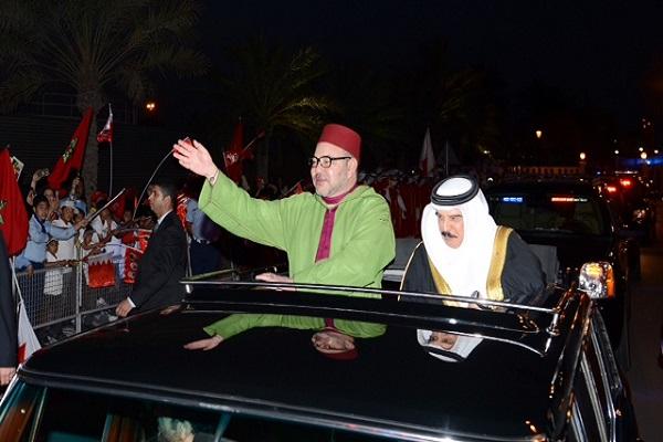 جانب من الاستقبالات الشعبية للملك المغربي