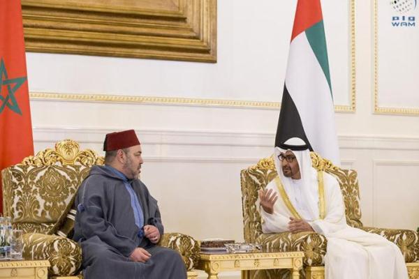 اللقاء الذي جمع الشيخ محمد بن زايد والملك محمد السادس في أبوظبي