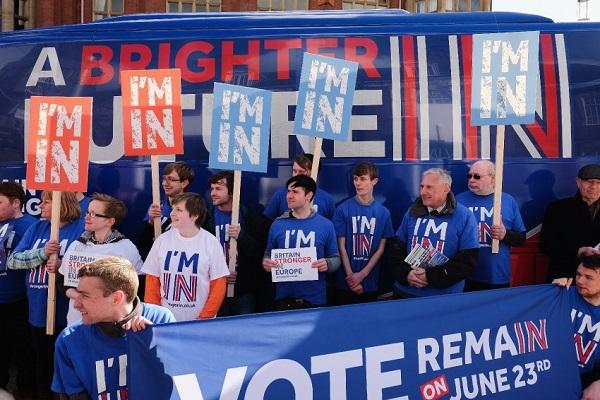 داعمون لبقاء بريطانيا في الاتحاد