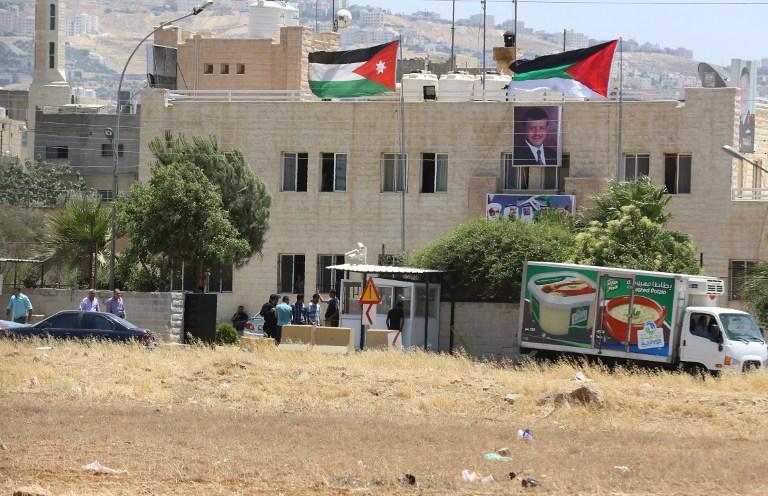 مكتب المخابرات الأردنية في البقعة والذي تعرض الاثنين إلى اعتداء دام