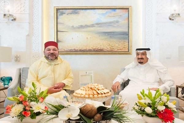العاهل السعودي مجتمعا مع الملك محمد السادس- واس