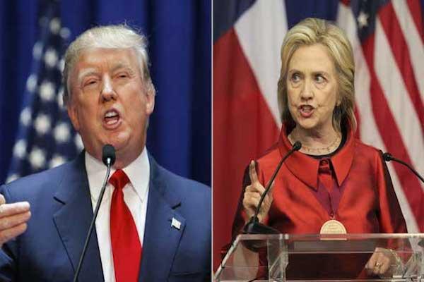 المرشحة الديموقراطية هيلاري كلينتون والمرشح الجمهوري دونالد ترامب