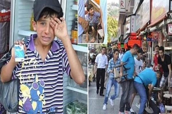 الطفل العراقي المتهم بسرقة مناديل ورقية