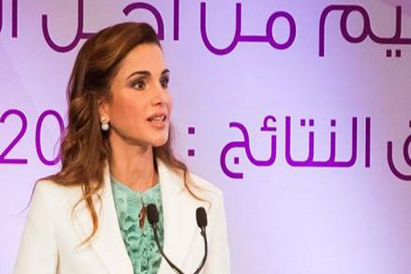 الملكة رانيا العبدالله تلقي كلمتها الجريئة