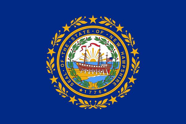 علم ولاية نيوهامشير الأميركية
