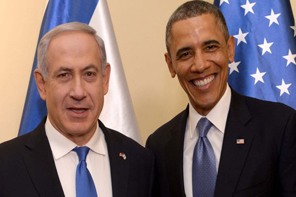 باراك أوباما وبنيامين نتانياهو