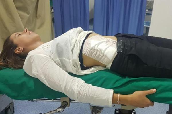 مريم أقريمع أثناء تلقيها العلاجات في إحدى مصحات فاس