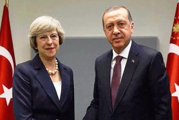 اردوغان وماي واتصال هاتفي السبت