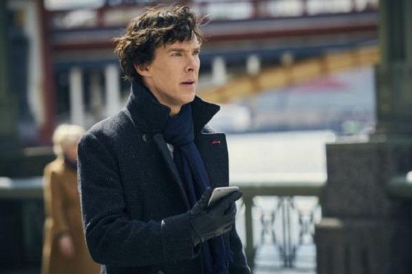 مشهد من مسلسل شرلوك