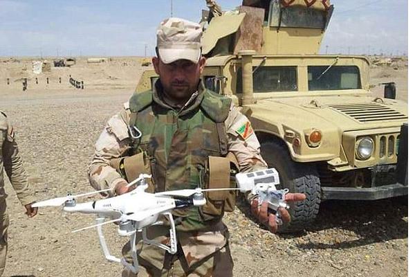 من طائرات داعش الآلية المضبوطة