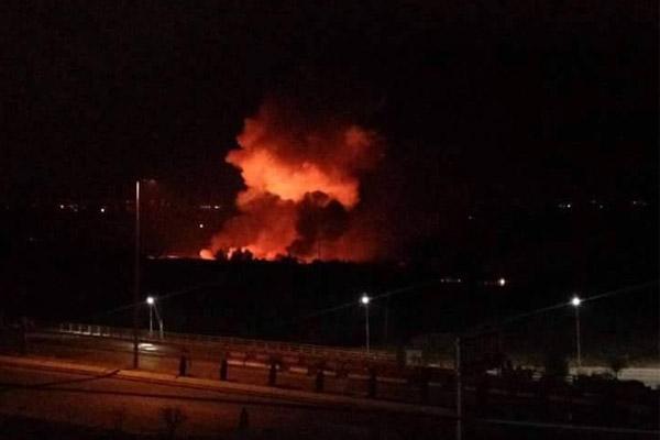 انفجارات عنيفة في مطار المزّة العسكري غرب العاصمة السورية دمشق