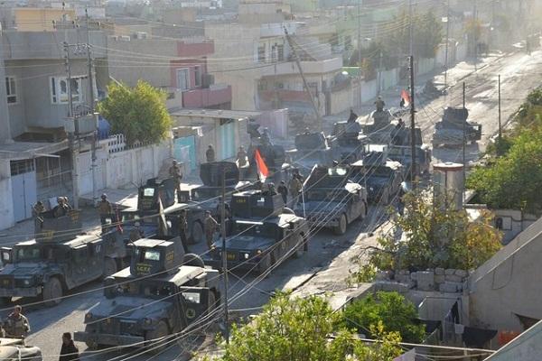 قوات عراقية في احد احياء الموصل المحررة