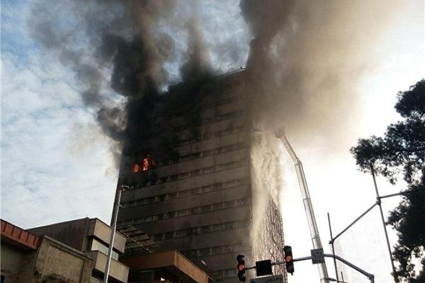 لقطة لاشتعال النيران في برج بلاسكو