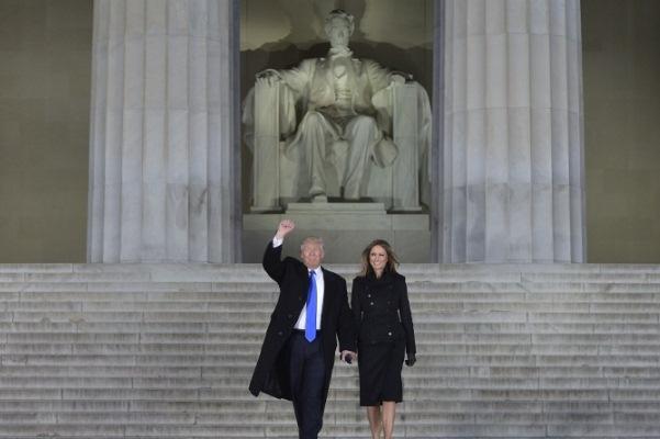 دونالد ترامب وزوجته