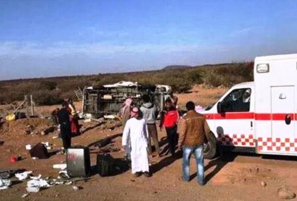 صورة من مكان الحادثة نشرها سعوديون على تويتر