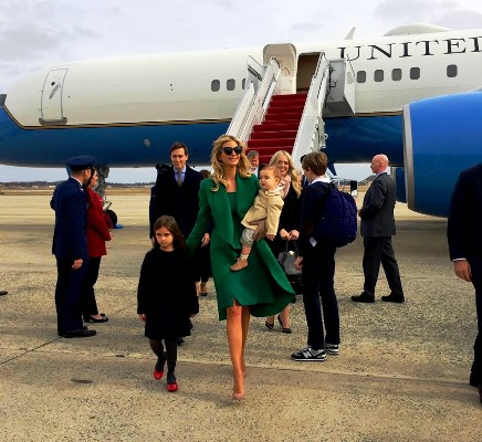 إيفانكا تصل واشنطن مع أفراد اسرتها - تويتر