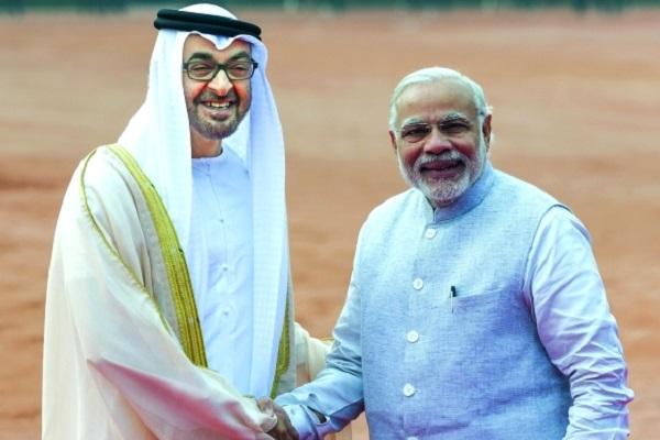 الشيخ محمد بن زايد ورئيس وزراء الهند مودي
