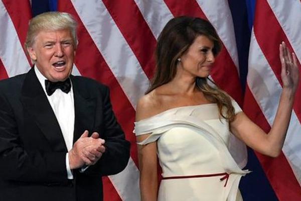 الرئيس الأميركي دونالد ترامب وزوجته ميلانيا