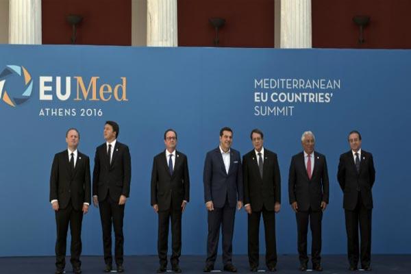 قادة دول جنوب الاتحاد الأوروبي السبع في أحد اجتماعاتهم السابقة في أثينا