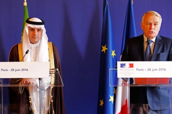 وزير الخارجية السعودي ونظيره الفرنسي خلال لقاء سابق