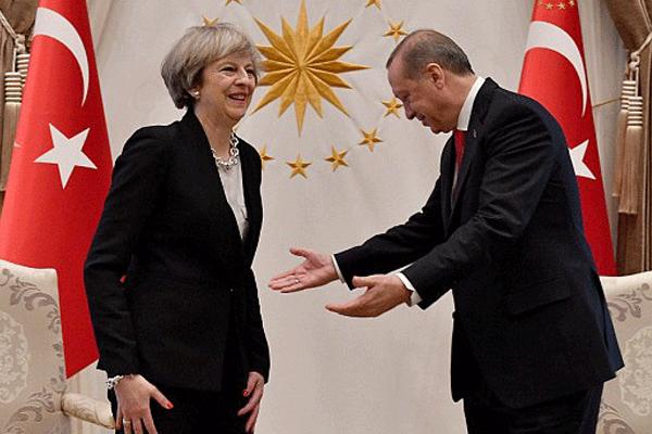 اردوغان مستقبلا رئيسة حكومة بريطانيا