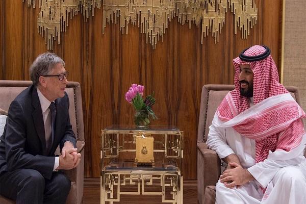 الأمير محمد بن سلمان يستعرض مع بيل جيتس فرص الاستثمار في