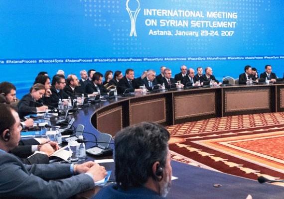 جانب من اجتماعات أستانة في 24 يناير