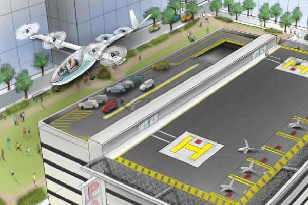 رسم تخييلي لمشروع أوبر للسيارات الطائرة أوبر أليفيت