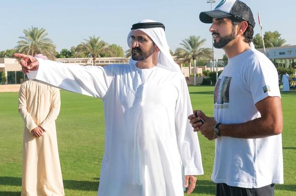 حاكم دبي الشيخ محمد بن راشد وولي عهده الشيخ حمدان بن محمد