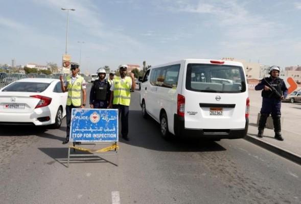 نقطة تفتيش للشرطة البحرينية في العاصمة المنامة