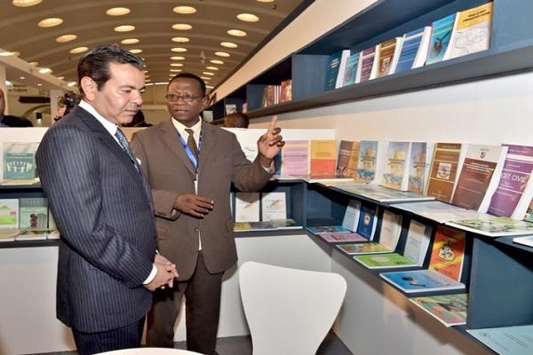 الامير مولاي رشيد لدى افتتاحه المعرض الدولي للنشر والكتاب في الدار البيضاء