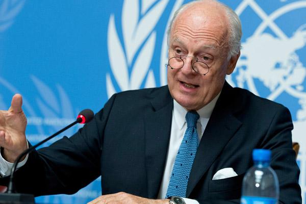 تمديد الأمم المتحدة للمبعوث الاممي ستيفان دي ميستورا مهمته في الملف السوري