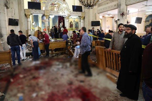 كنيسة مارجرجس في طنطا بعد التفجير