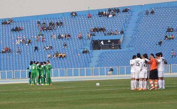 من احدى مباريات الدوري العراقي