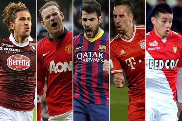 سيسك فابريغاس أفضل صانع أهداف في الدوريات الأوروبية الكبرى