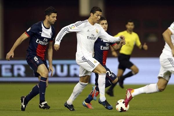 رونالدو في مباراة ريال مدريد وباريس سان جيرمان الودية