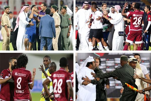 جملة من الحوادث المؤسفة في الملاعب الإماراتية هذا الموسم