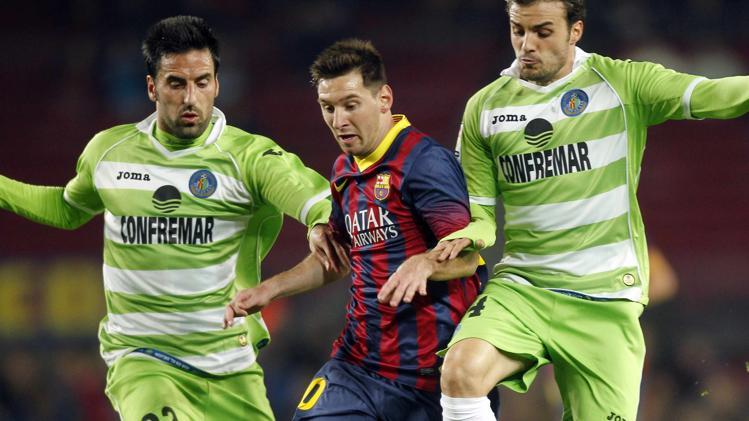 من مباراة الذهاب بين برشلونة وخيتافي