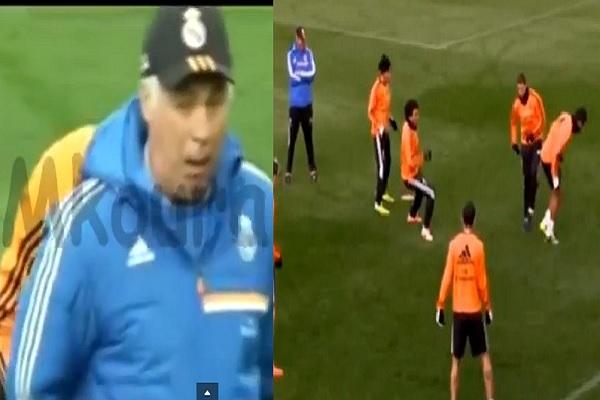 رونالدو يجن جنونه في التدريبات وأنشيلوتي يسخر منه