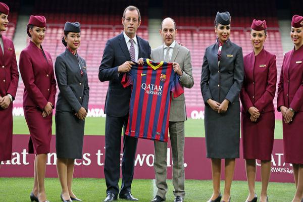 برشلونة لديه عقد مع مؤسسة قطر والخطوط الجوية القطرية