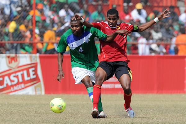 من مباراة سابقة بين ليسوتو وانغولا