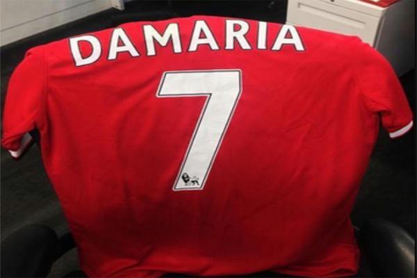 وجود خطأ في الحرف الأولى لأسم دي ماريا ، حيث كتب أسم اللاعب